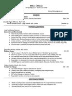 whitney whitson resume