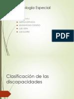 Clasificacion de Las Discapacidades