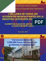 2,000,000 Horas sin Accidentes - Ing.Meniolí Alvarez