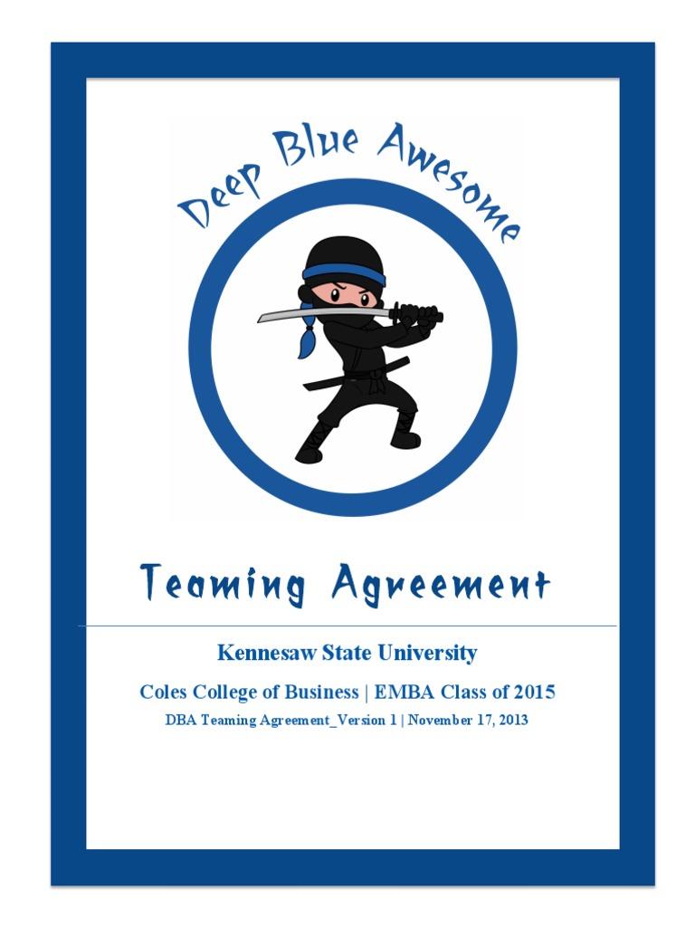 Dba Teaming Agreement Version 1 111713 1 Consensus Decision Making