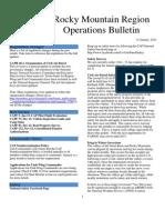 RMR Operations Bulletin - Jan 2013