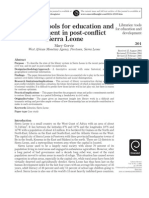 HANAFI HAMDAN-2007113977Libraries:tools for educationand development in post-conflict Seira Leone