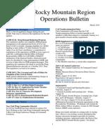 RMR Operations Bulletin - Mar 2013