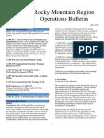 RMR Operations Bulletin - Apr 2013