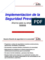 Implementación de la Seguridad Preventiva - Ing. Rafael Chireno
