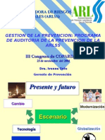 Programa Auditoría de la Prevención ARLSS - Dra. Ivonne Soto