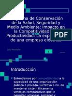 08. Ing. July Montaño. Programa Conserv.Salud, Seguridad y MA