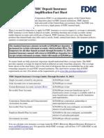 FDIC Factsheet