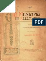 O município de Belém. Relatório de Antônio José Lemos. 1908