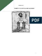 Las Claviculas Del Rey Salomon Por Eliphas Levi