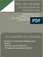 El Control de Calidad en Geologia de Produccion