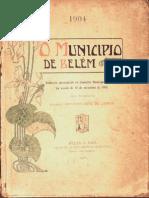 O município de Belém. Relatório de Antônio José Lemos. 1904