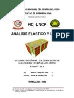 analisis lineal etbas DE LA EDIFICACION DE ALBAÑILERIA CONFINADA DE 4 PISOS