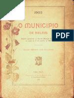 O município de Belém. Relatório de Antônio José Lemos. 1903