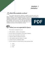 Module 1 - Statistics