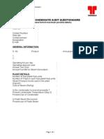Trap & Condesate Audit - Questionnaire