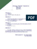 Concurs Matematica Clasa a IV A