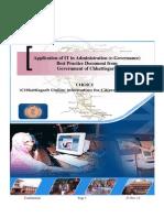 Application of IT by Govt of Chattisgarh