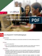 Les Français et leurs préoccupations de la vie quotidienne - Baromètre DOMPLUS 2013