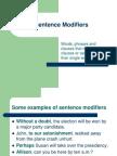 Sentence Modifiers