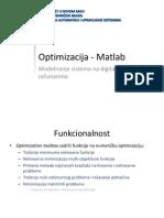M1 Optimizacija - Matlab