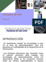 UL ARQ DC Tema 10 - Conceptos de RAID