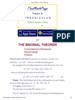 Binomial Theorem - Topics in Precalculus