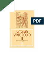 Verdad y Metodo - Gadamer