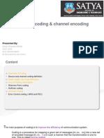 ICT (Source Encoding & Channel Encoding)