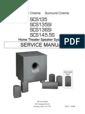SCS135 136SI 145S Service Manual | Loudspeaker | Amplifier on