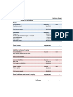 Long Pine Cafe 2-3 Balance Sheet