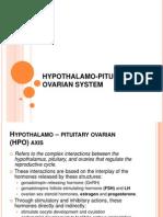 Hypothalamus pituitary ovarian system