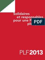 Projet Loi Finances 2013 Plf Synthese