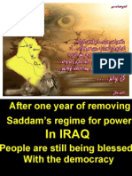After One Year of Removing Saddam's Regime for Power