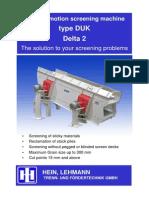 7 Circular Motion Screening Machine Type DUK Delta 2 - EnG