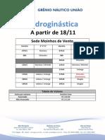 Hidroginástica 2013 - Novembro a partir 18-11