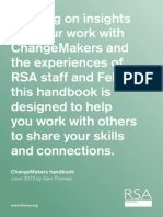 RSA Fellowship Changemakers Handbook 2013