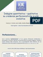 Indagine su credenze perfezionistiche in età evolutiva - Assisi 2013