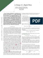 Paper for Filter design