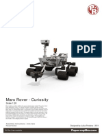 Mars Rover Curiosity Paper Model DESPIECE