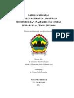 Laporan Monitoring Evaluasi Sampah Jlegong