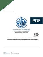 Conexion Mediante Escritorio Remoto Windows