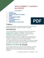 Bases de Datos en Delphi 7 - Conexión a bases de MySQL
