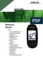 Magellan Explor is t 600 Manual