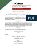 Codigo Procesal Civil y Mercantil, Guatemala