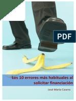 Los 10 Errores Mas Habituales Al Solicitar Financiacion eBook