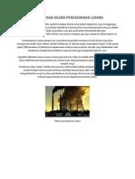 Faktor Dan Kesan Pencemaran Udara