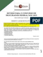 Revisão para o concurso de Procurador Federal-AGU-2013