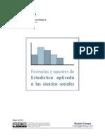 Formulas Apuntres Estadisticas Para Las Ciencias Sociales