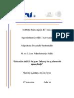Educación del XXI Jacques Delors y los 4 pilares del aprendizaje